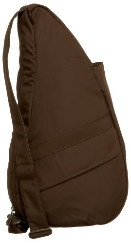 AmeriBag Small Classic Microfiber Healthy Back Bag, Chocolate