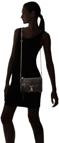 Rebecca Minkoff Mini Mac Cross Body Bag H652I01C,Black,One Size