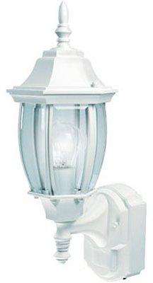 (Heath Zenith HZ-4192-WH  Six-Sided Die-Cast Aluminum Lantern, White with Beveled Glass)