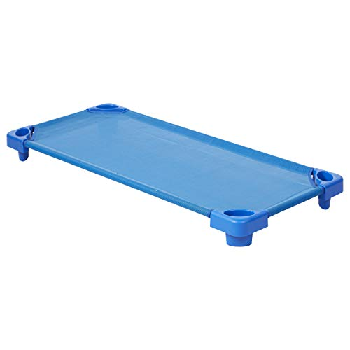 ECR4Kids apilables Assembled Kiddie Cuna, Azul, Standard/Single
