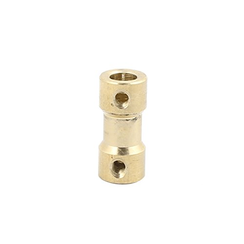 - uxcell 3.17mmx5mm Brass Shaft Coupling Coupler Motor Transmission Motor Connector for RC Boat Model