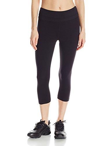 Marika Womens Ava Performance Slim Capri Legging, Black, Large ()