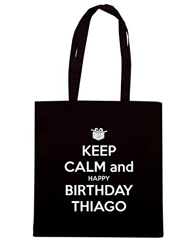 KEEP Speed Shirt AND BIRTHDAY TKC0017 THIAGO Shopper HAPPY Nera Borsa CALM gXSFArXf