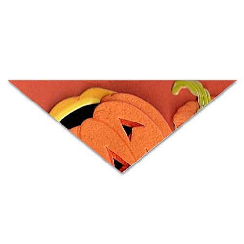 Classic Pet Dog Bandanas Pumpkin Carving Washable Triangle