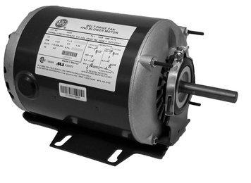 - 1/3 hp 1725 RPM 48 Frame 115/230V Belt Drive Furnace Motor Ball Brg # PD6004