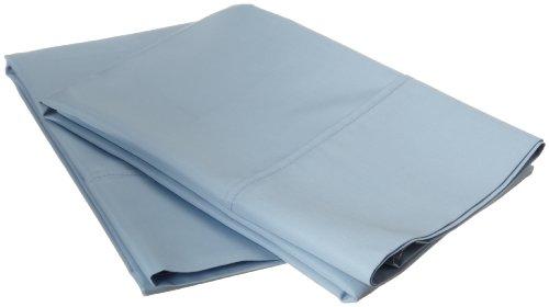 Cotton Blend 600 Thread Count , Soft, Wrinkle Resistant 2-Piece Standard Pillowcase Set, Solid Light Blue