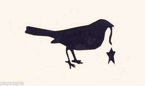 - OutletBestSelling Stencil Primitive Crow with Dangling Star for Crafts~Signs~Pillows~Walls~Lamps 7 inch
