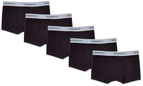 Good Brief Men's 5-Pack Cotton Stretch Low Rise Trunk X-Large Black