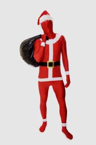 [Morphsuits Premium Santa  XL, Red / White / Black, X-Large] (Full Body Morphsuit)