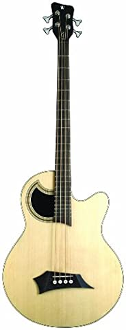 Warwick Alien Acoustic: Deluxe WAC157410PASBUFR 4-String Acoustic-Electric Guitar (Acoustic Basses)