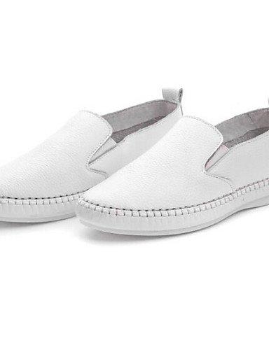 De Tejido 5 Eu38 Mujer Exterior White Plano Zq Casual Zapatos White Blanco 5 us8 Negro Tacón Comfort Mocasines us7 Cn39 Uk5 Eu39 Cn38 Uk6 Punta Redonda wxxq5nPSf