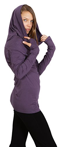 Women's Star Cowl Neck Hoodie Shirt with (Lycra Cowl Neck)