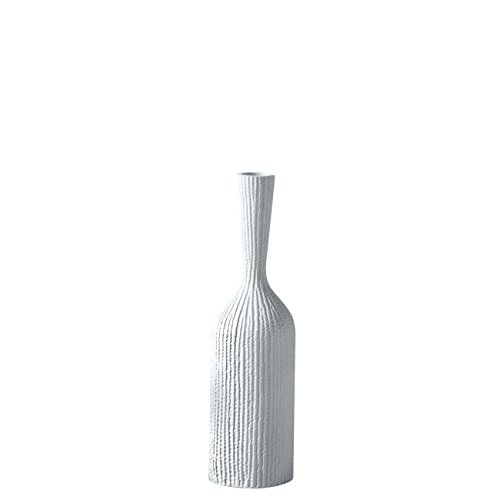 Torre & Tagus Zoro Carved Line Resin Floor Vase