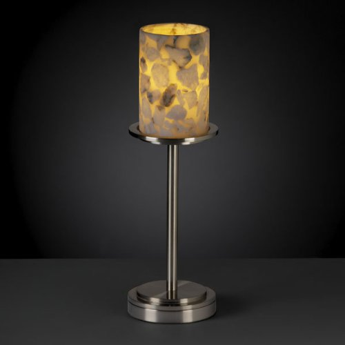 Justice Design Group ALR-8799 Table Lamp from the Alabaster Rocks! Collection, Matte Black