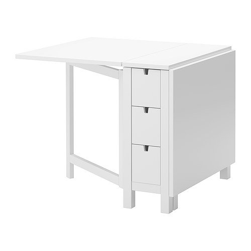 Ikea Gateleg table, white 1626.2928.1014 by Ikea