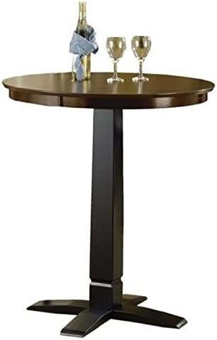 BOWERY HILL Round Pub Table in Black