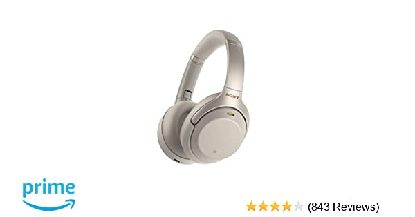 Sony Noise Cancelling Headphones WH1000XM3  Wireless Bluetooth Over the Ear  Headphones with Mic and Alexa voice control - Industry Leading Active Noise  ... d9539cb33c
