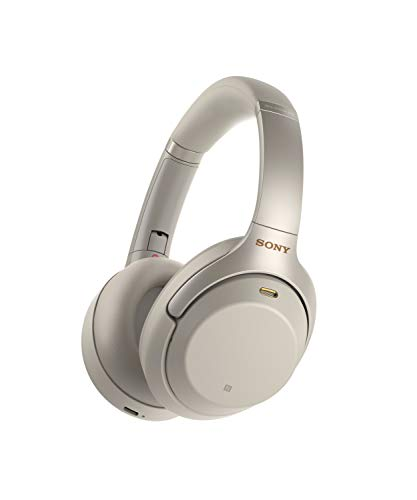 Silver Headphones Headphones (Sony Noise Cancelling Headphones WH1000XM3: Wireless Bluetooth Over the Ear Headphones with Mic and Alexa voice control - Industry Leading Active Noise Cancellation - Silver)