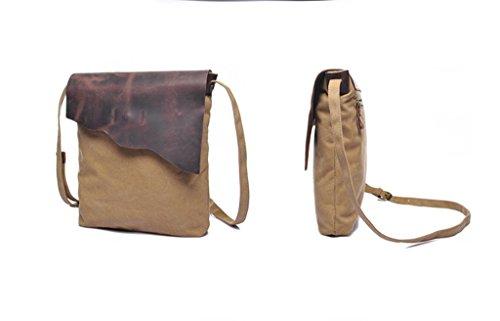 Sucastle Retro borsa casual borsa tracolla Messenger bag borsa di tela Sucastle Colore: Khaki Dimensione: 30x24x5cm