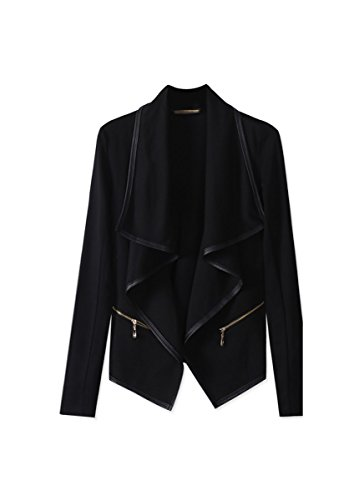 CA Mode Women Cardigan Wrap Blazer Outwear Jacket Faux Pockets