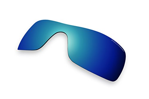 Sunglass Lenses Replacement Polarized for Oakley Batwolf Sunglasses (Blue Mirror - Oakley Batwolf Sunglasses