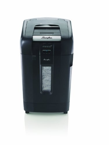 Swingline Paper Shredder, Auto Feed, 750 Sheet Capacity, Micro-Cut, 20+ Users, Stack-and-Shred 750M (1758578)