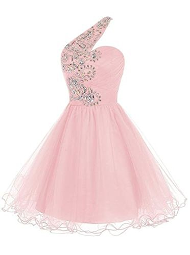 Juniors Party Cocktail Drasawee One Short Dresses Pink Shoulder Homecoming Ball FwUqdw