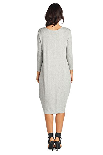 Styles Women's Gray Heather 82 Mid Long Dresses Comfortable Various Days Jersey q5Ovt