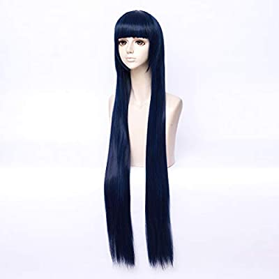 COSPLAZA de Cosplay pelucas larga recto azul Hyuuga Hinata Cabello Halloween completamente libre de pelo con tapa