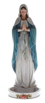 (Woodington's Our Lady of Grace 8 Inch Rosary and Jewelry Holder Statue )