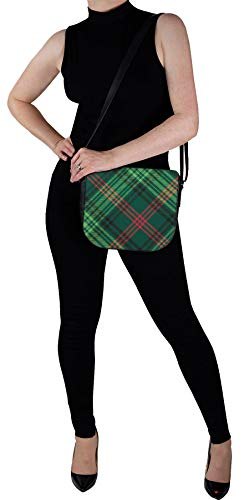 Tartan Inside Bag Handbag Leather Shoulder Back and Ross with Pocket with 0X0UAp