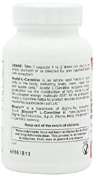 Jarrow Formulas Acetyl L-Carnitine 500mg, 120 Count , Pack of 2