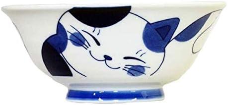 Japanese Style Handmade Cat Design Ceramic Tableware Set Soup Noodle Bowl