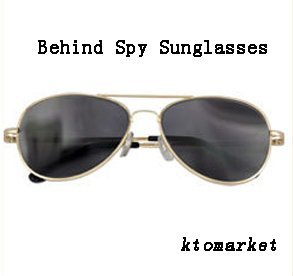 Rear Mirror View Rearview Behind Spy Sunglasses ()