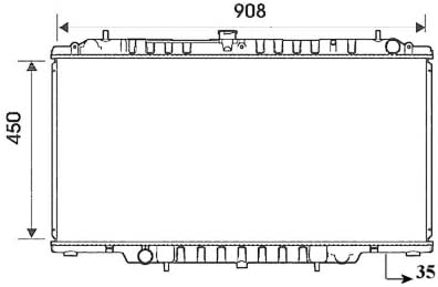 Raffreddamento motore Nrf 53830 Radiatore