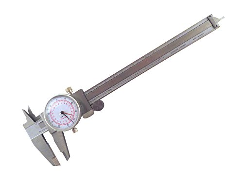 "6"" / 150 mm Metric Imperial SAE Dual Reading Dial Caliper Stainless Steel Accurate to 0.001"" or 0.02 mm Shockproof E/MDC"