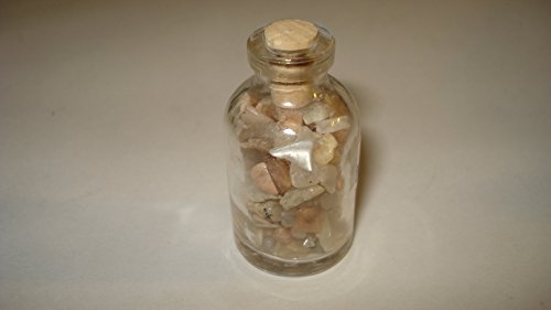 (** Brand New Item 2015 **) 1pc Premium Quality Moonstone Gemstone Chips Healing Crystal Collectible Bottles with Cork Top