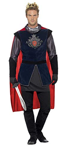 Smiffy's Men Deluxe King Arthur Costume, Black, L - US Size -