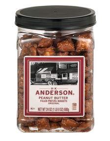 H.K. Anderson Peanut Butter Filled Pretzel Nuggets 24 oz Pack of 8