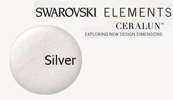 - Swarovski Ceralun Ceramic Composite, Silver 2 X 50gram
