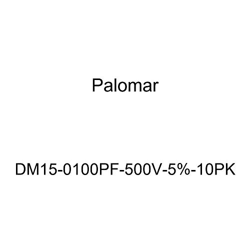 (Palomar DM15-0100PF-500V-5%-10PK Dipped Silver Mica Capacitor (DM15 Size, 100pF, 500V, +/-5%), 10)