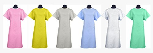 (Classic Patient Medical Hospital Gown/Johnny Hospital Gowns 2pack - Many Colors to Choose from! Made in The USA (Blue) )