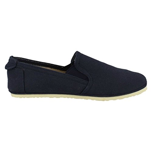 Spot On Ladies Casual Slip On Flat Gusset Shoes Navy (Blue) f09mVP