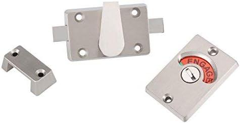 Serrure de porte Acier inoxydable indicateur de verrouillage de porte Verrou de s/écurit/é en acier inoxydable /à unverlierbarem bet/ätigungs et de vis pour porte /à la toilette lespace