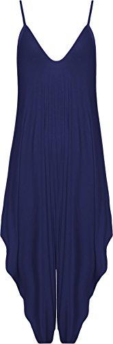 Bleu Haut WearAll 54 Robe Salopette Harem Lacets 40 Femmes Hauts Lagenlook Combinaison Femmes Marin Bouffant Tailles xw0qf1C6w