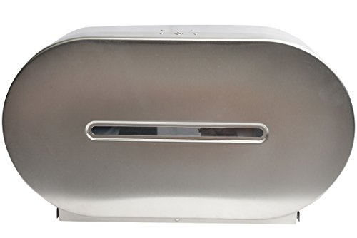 Janico 2513 Toilet Paper Dispenser, Double Roll Tissue Dispenser, Stainless Steel, Silver by Janico (Image #4)