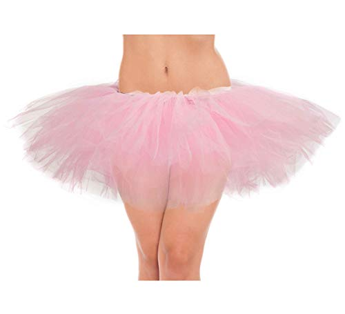 belababy Women Pink Tutu Girls Halloween Dress Up Skirt, One Size, Pink