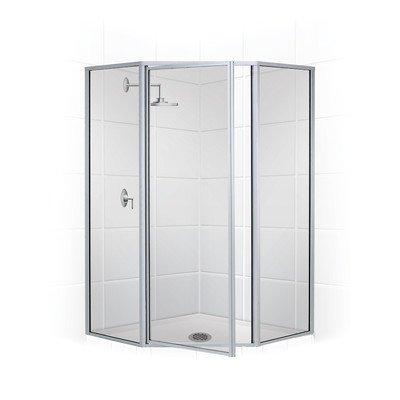 """Legend 66"""" x 25"""" Neo Angle Swing Door Shower Enclosure"""