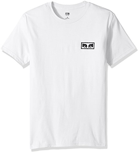 Obey Men's No One Regular Fit Premium T-Shirt, White, XL