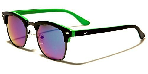 Polarisiert clubmaster Sonnenbrille - Cat 3 Gläser Bietet Volle UV400 Schutz - erhältlich in 5 farben - Ideal Für Fahren - Gold & Schwarz Rahmen Grau Gläser, Medium